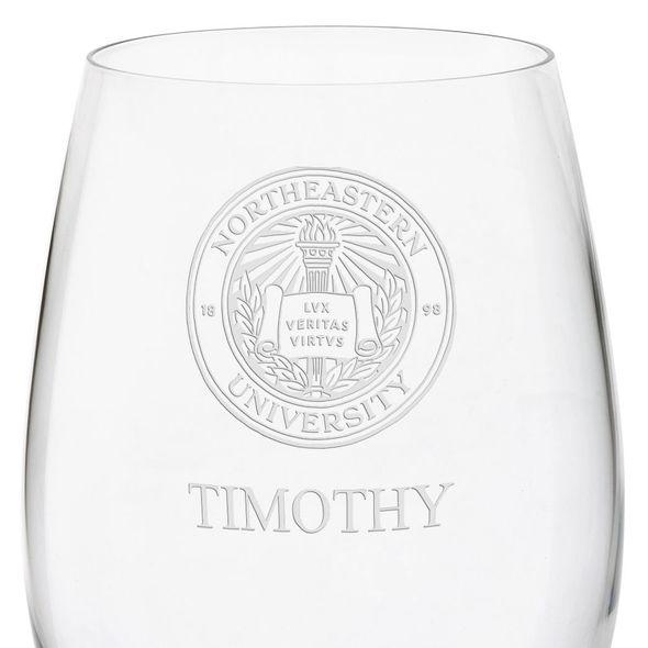 Northeastern Red Wine Glasses - Set of 4 - Image 3
