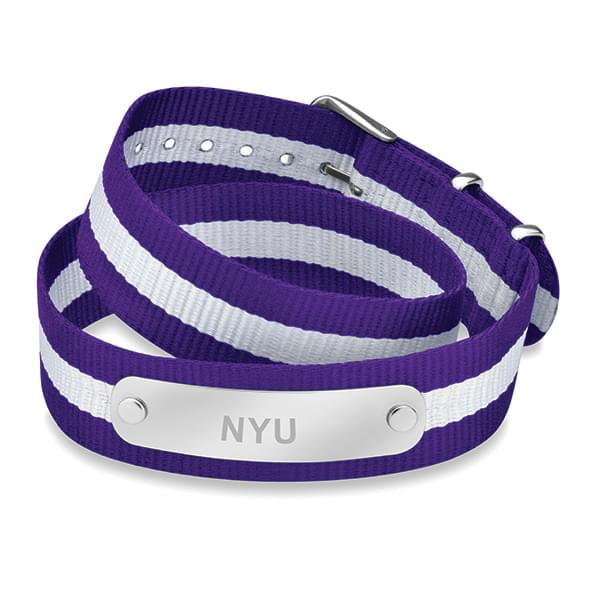 New York University Double Wrap NATO ID Bracelet