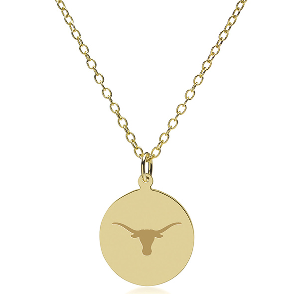 University of Texas 14K Gold Pendant & Chain - Image 2