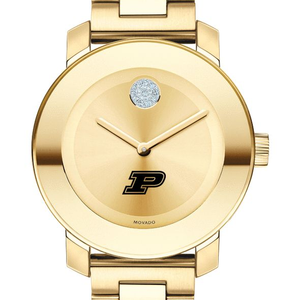 Purdue University Women's Movado Gold Bold