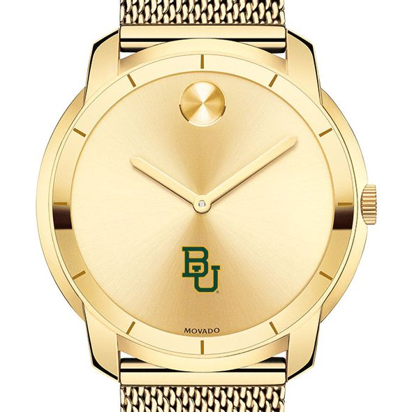 Baylor University Men's Movado Gold Bold 44