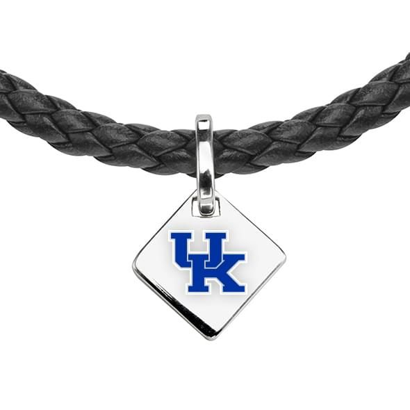 University of Kentucky Leather Necklace with Sterling Silver Tag - Image 2