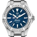 Georgia Women's TAG Heuer 35mm Steel Aquaracer with Blue Dial - Image 1