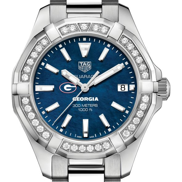 Georgia Women's TAG Heuer 35mm Steel Aquaracer with Blue Dial