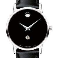 Georgetown University Women's Movado Museum with Leather Strap