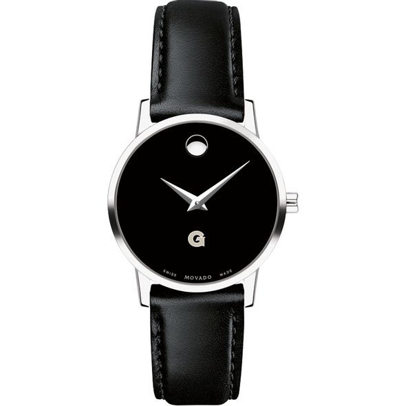 Georgetown University Women's Movado Museum with Leather Strap - Image 2