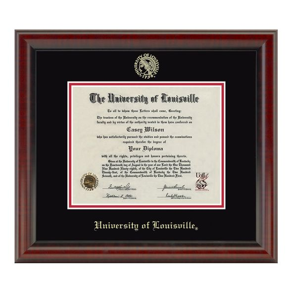 University of Louisville Diploma Frame, the Fidelitas