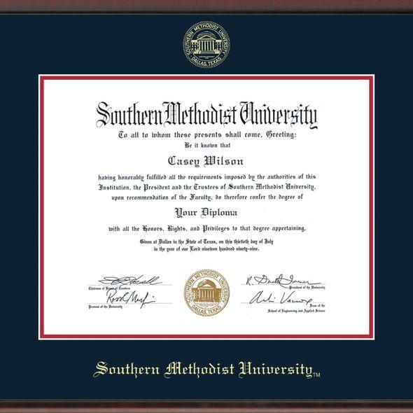 Southern Methodist University Fidelitas Diploma Frame Masters/Ph.D. - Image 2