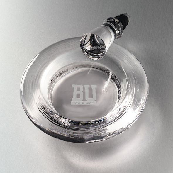 Boston University Glass Wine Coaster by Simon Pearce
