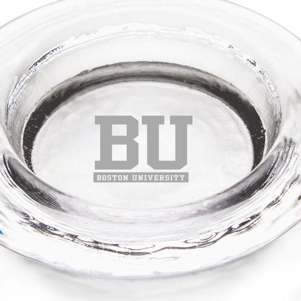 Boston University Glass Wine Coaster by Simon Pearce - Image 2