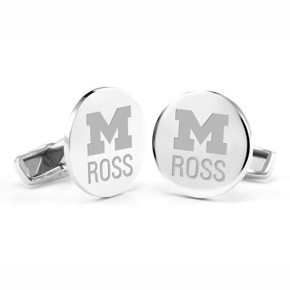 Michigan Ross Cufflinks in Sterling Silver