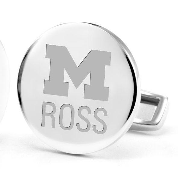 Michigan Ross Cufflinks in Sterling Silver - Image 2