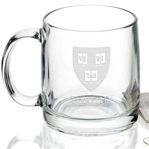 Harvard University 13 oz Glass Coffee Mug - Image 2