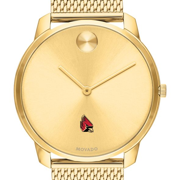 Ball State Men's Movado Bold Gold 42 with Mesh Bracelet - Image 1