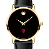 Indiana University Women's Movado Gold Museum Classic Leather
