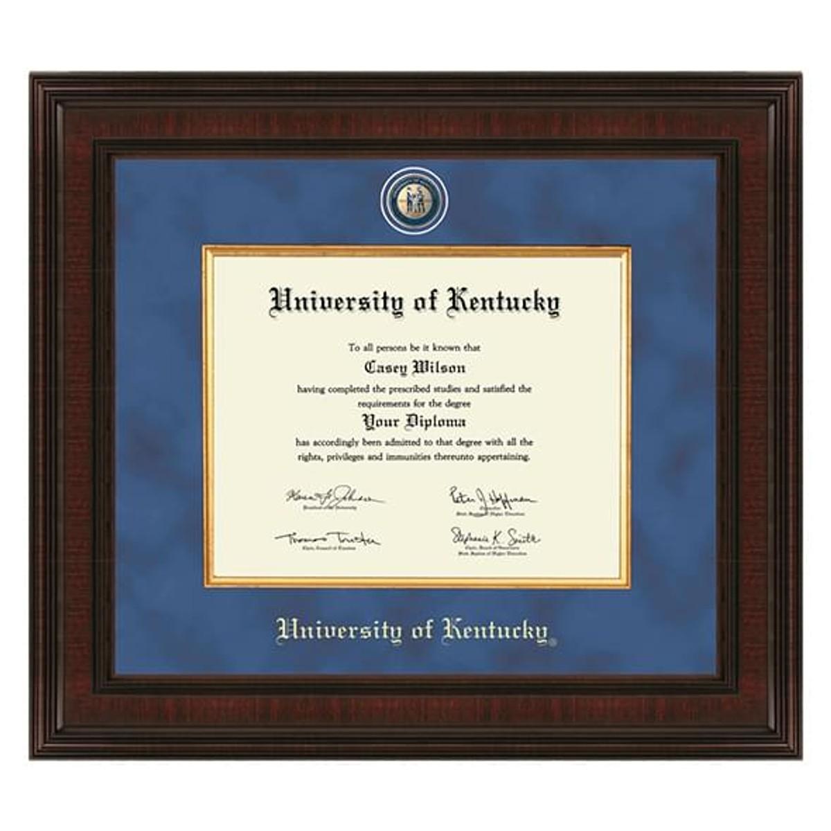 University Of Kentucky Diploma Frame Excelsior
