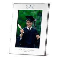 Sigma Alpha Epsilon Polished Pewter 4x6 Picture Frame