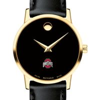 Ohio State Women's Movado Gold Museum Classic Leather