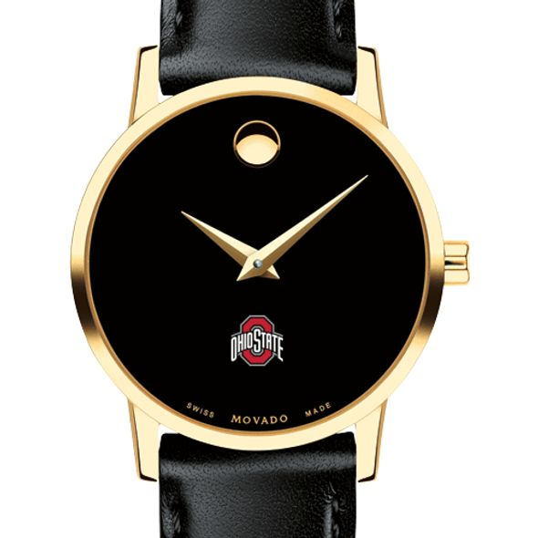 Ohio State Women's Movado Gold Museum Classic Leather - Image 1