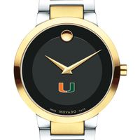University of Miami Men's Movado Two-Tone Modern Classic Museum with Bracelet