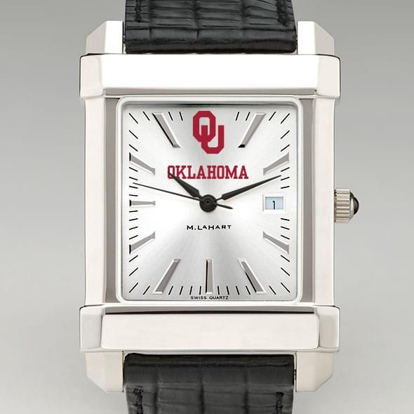 Oklahoma Men's Collegiate Watch with Leather Strap - Image 1