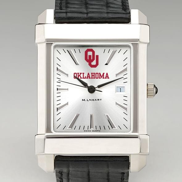 Oklahoma Men's Collegiate Watch with Leather Strap