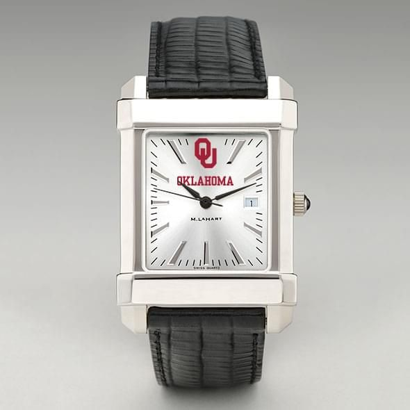 Oklahoma Men's Collegiate Watch with Leather Strap - Image 2