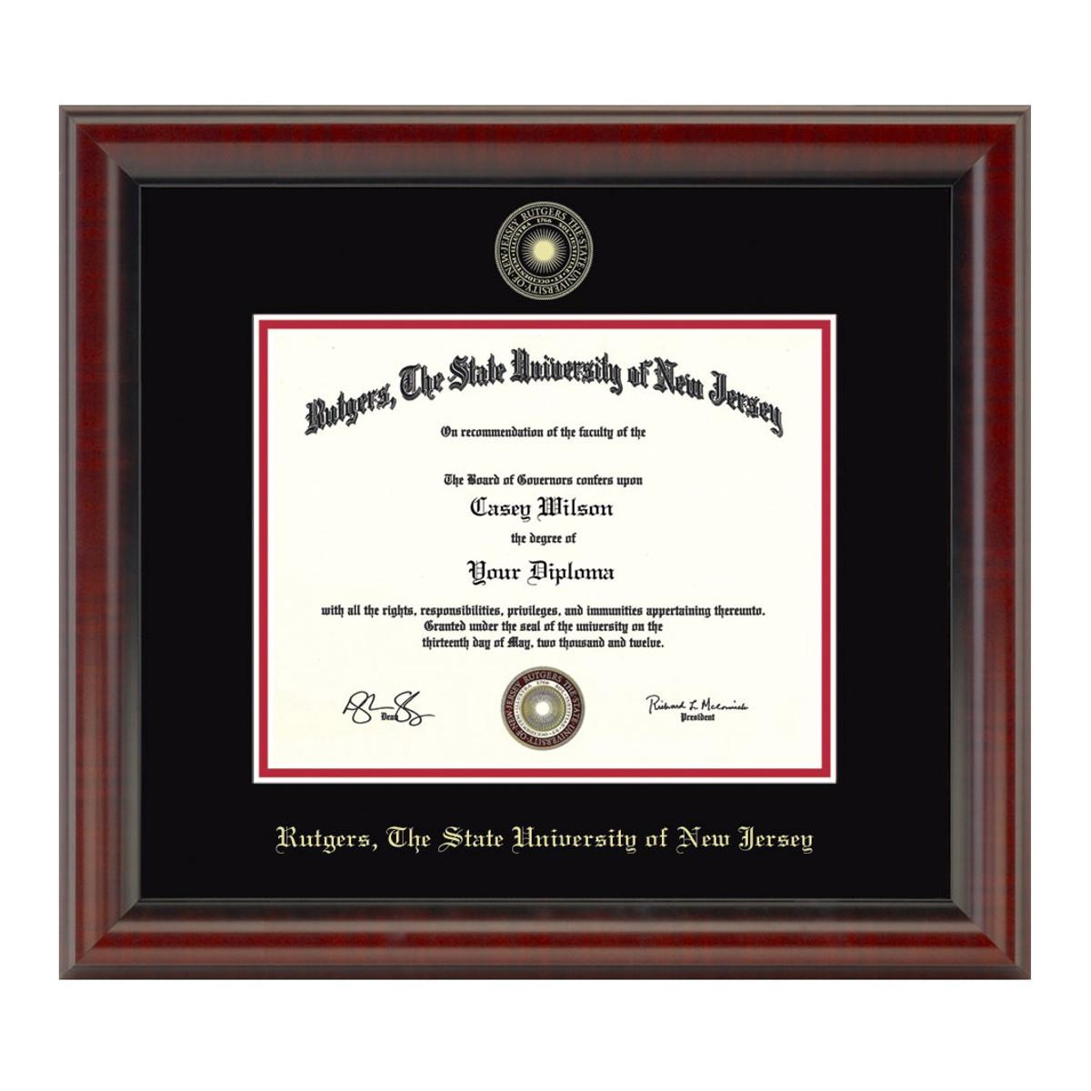 Rutgers University New Brunswick diploma frame campus certificate Rutgers degree frames framing gift graduation award plaque document