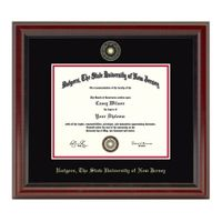 Rutgers University Masters/PhD Diploma Frame, the Fidelitas