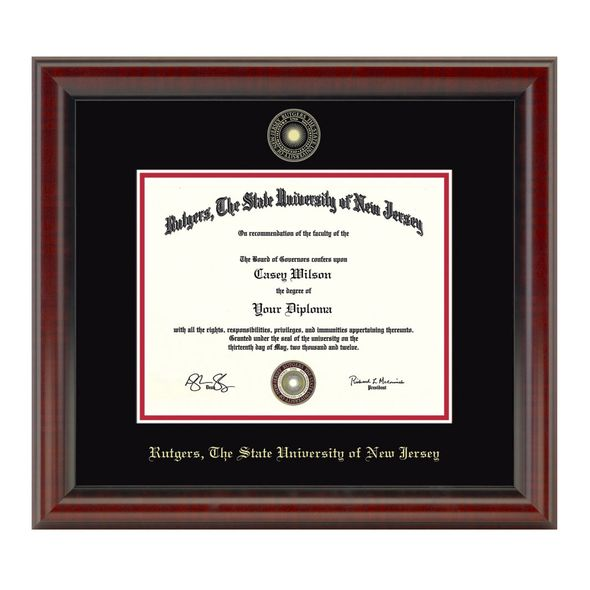 Rutgers University Masters/PhD Diploma Frame, the Fidelitas