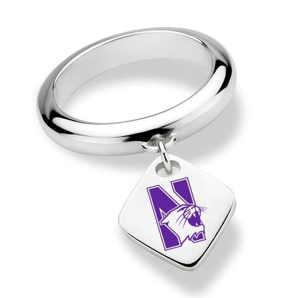 Northwestern University Sterling Silver Ring with Sterling Tag