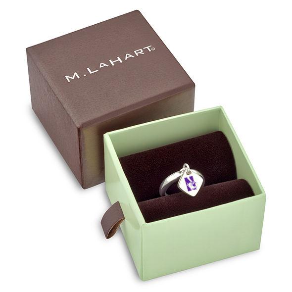 Northwestern University Sterling Silver Ring with Sterling Tag - Image 2