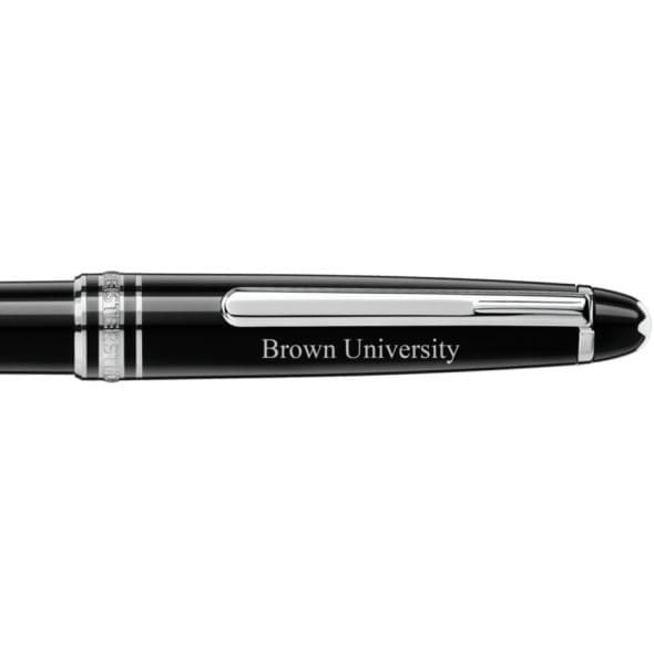 Brown University Montblanc Meisterstück Classique Ballpoint Pen in Platinum - Image 2