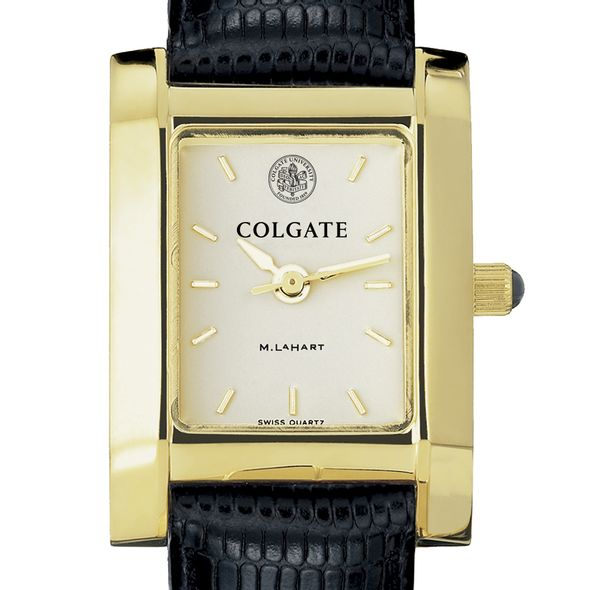 Colgate Women's Gold Quad with Leather Strap