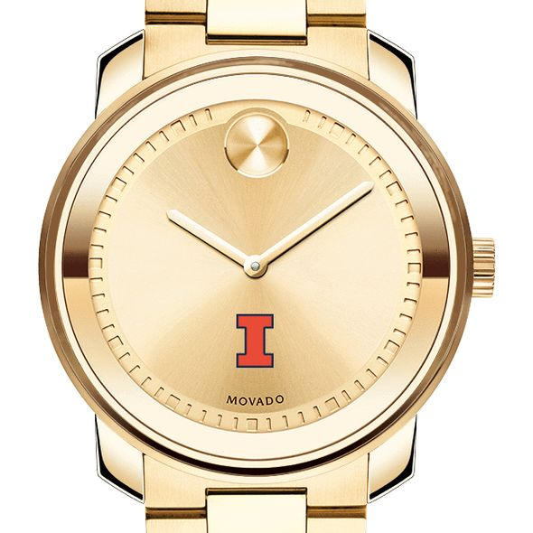 University of Illinois Men's Movado Gold Bold