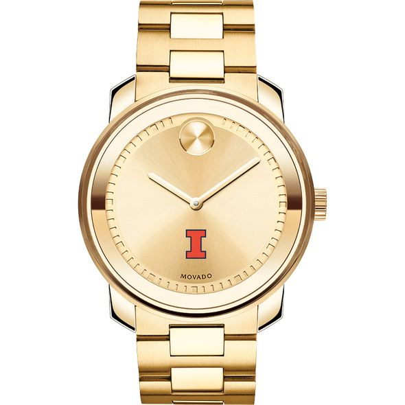 University of Illinois Men's Movado Gold Bold - Image 2