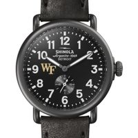 Wake Forest Shinola Watch, The Runwell 41mm Black Dial