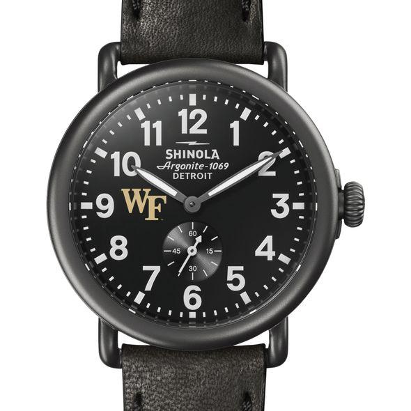 Wake Forest Shinola Watch, The Runwell 41mm Black Dial - Image 1