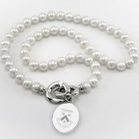 Columbia Pearl Necklace with Sterling Silver Charm
