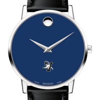 University of Vermont Men's Movado Museum with Blue Dial & Leather Strap