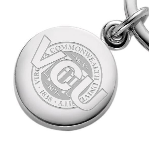 VCU Sterling Silver Insignia Key Ring - Image 2
