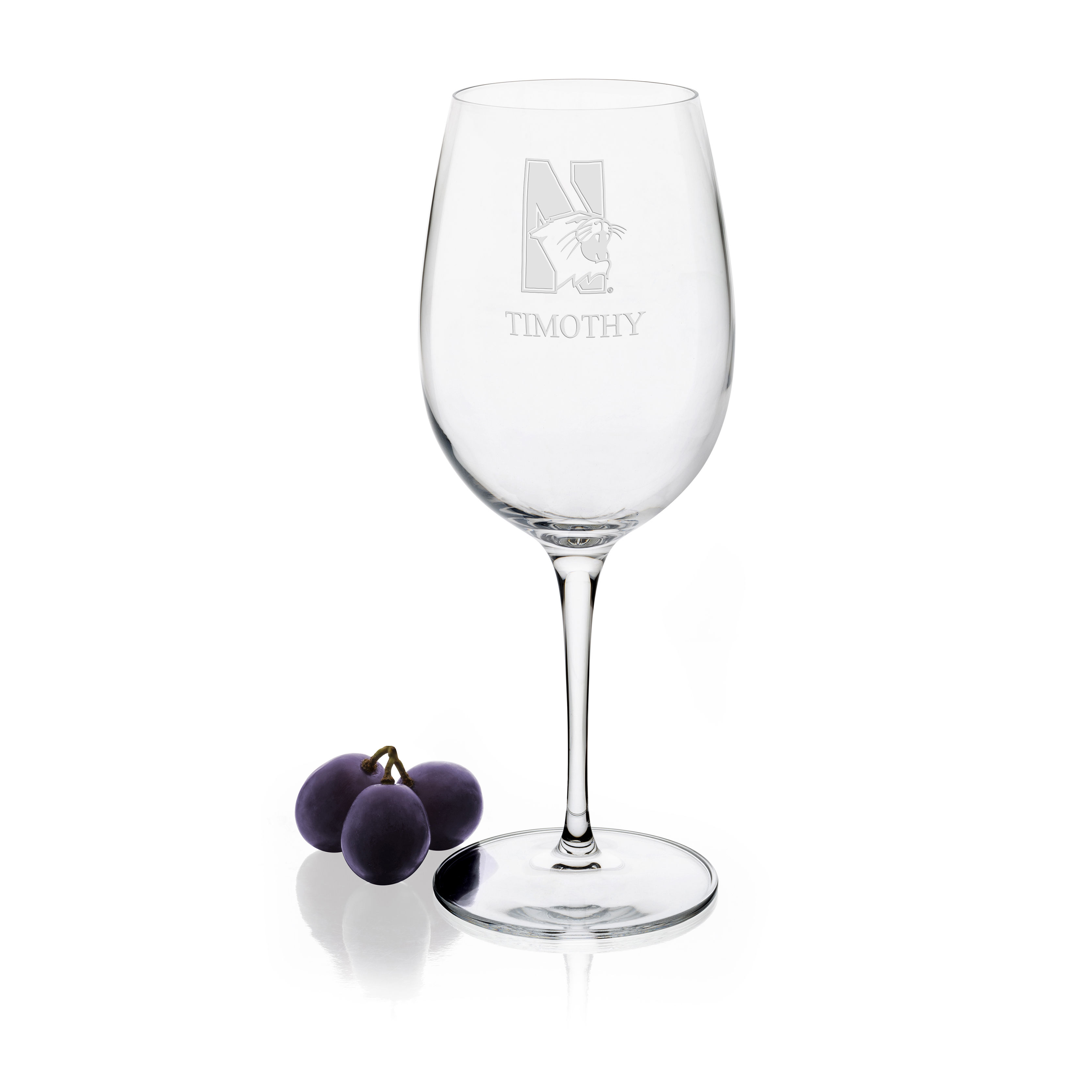 Northwestern University Red Wine Glasses - Set of 2