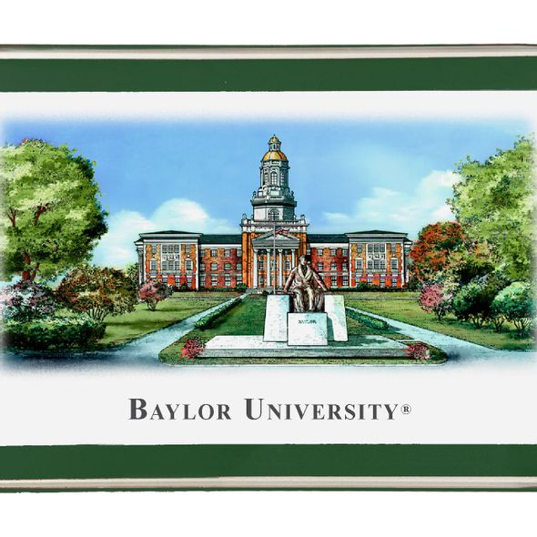 Baylor Eglomise Paperweight - Image 2