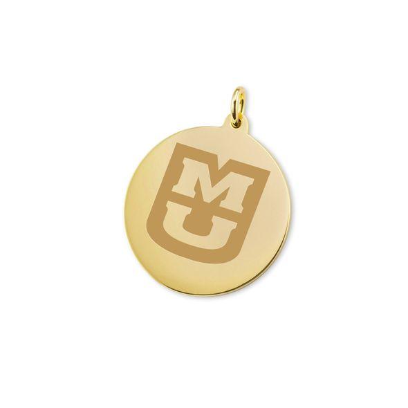 University of Missouri 18K Gold Charm