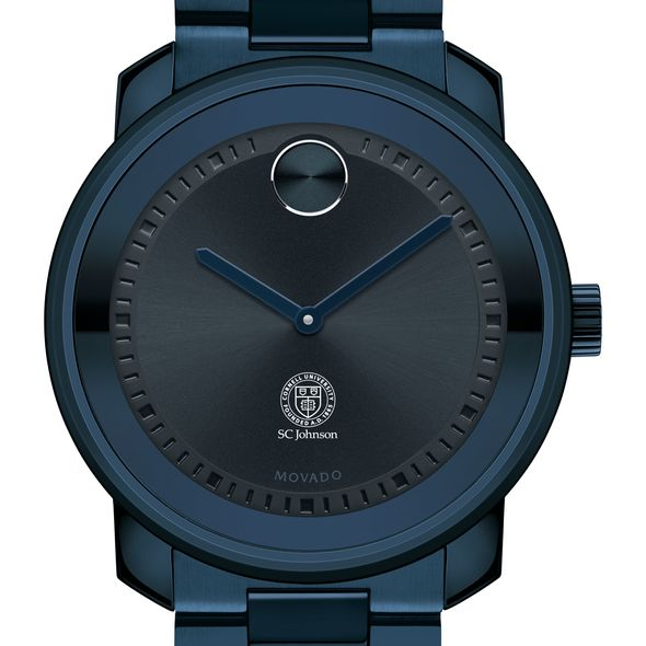 Cornell SC Johnson College of Business Men's Movado BOLD Blue Ion with Bracelet