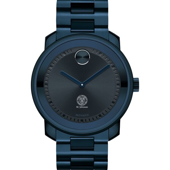 Cornell SC Johnson College of Business Men's Movado BOLD Blue Ion with Bracelet - Image 2
