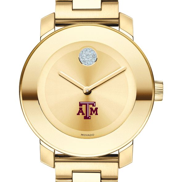 Texas A&M University Women's Movado Gold Bold