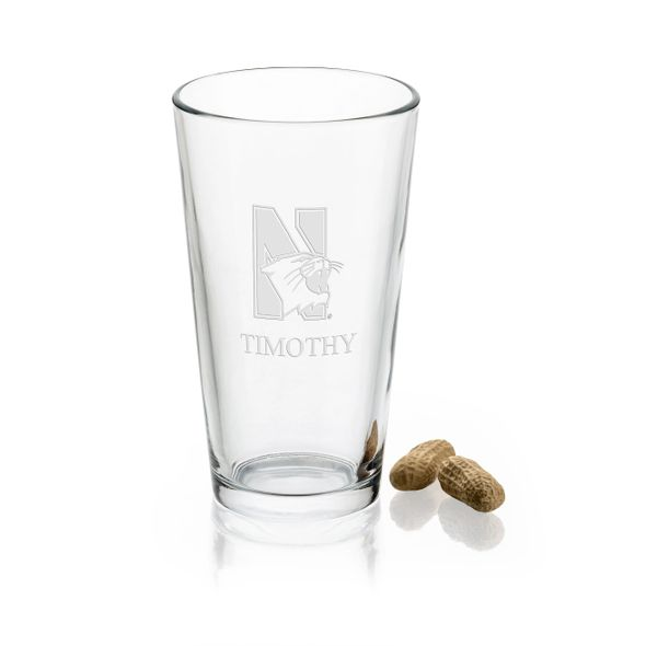 Northwestern University 16 oz Pint Glass