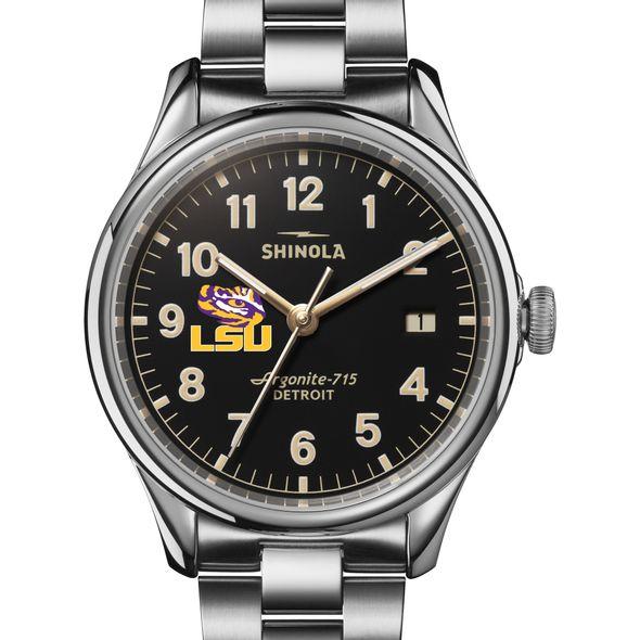 LSU Shinola Watch, The Vinton 38mm Black Dial - Image 1