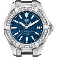 Columbia Business Women's TAG Heuer 35mm Steel Aquaracer with Blue Dial